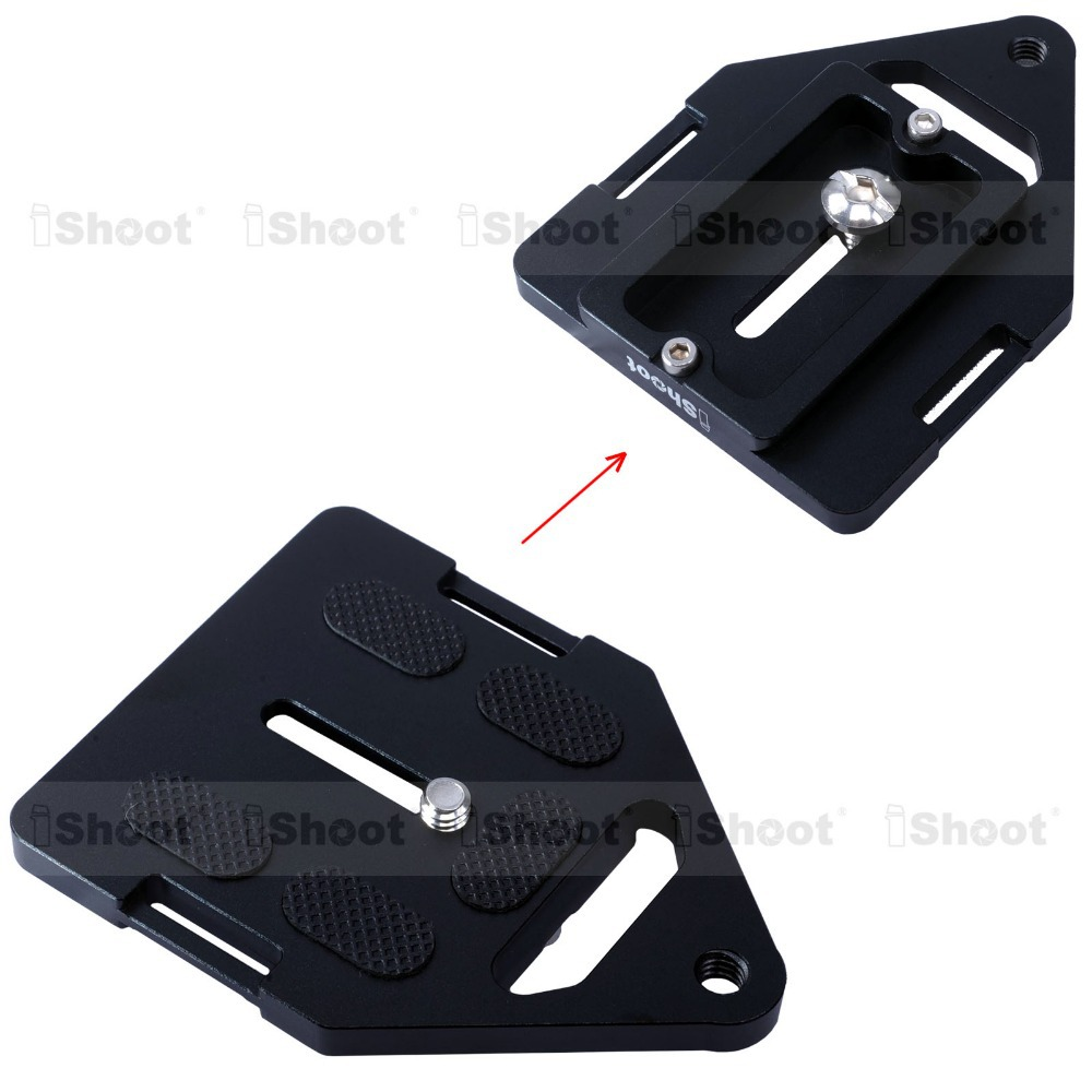 iShoot Triangular Metal Quick Release Plate for Sony 135 Big Camera kangrinpoche Arca-Swiss Tripod Ball Head Clamp
