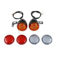 Turn Signal Light With Bracket For Harley XLH883 Hugger Dyna Wide Super Glide Street Fat Bob