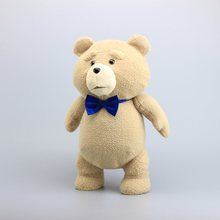 """18"""" 45CM Teddy Bear TED Plush Toys with Blue Tie Pirate Teddy Soft Stuffed Dolls Toy Children Gifts"""