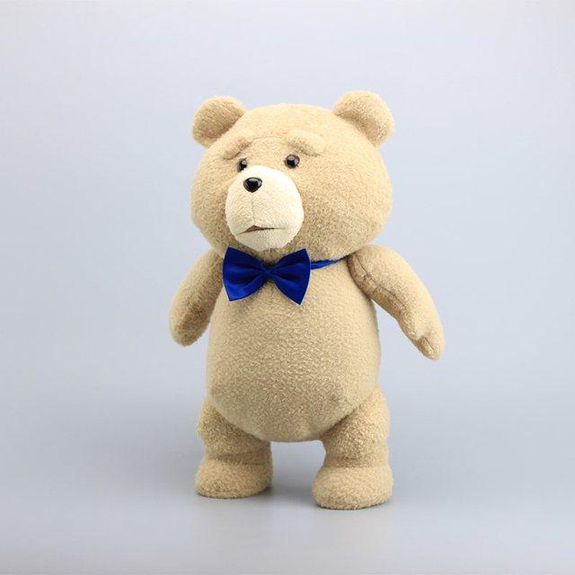 """18 """"45CM Teddy Bear TED peluş oyuncaklar mavi kravat korsan oyuncak yumuşak dolması bebekler oyuncak çocuk hediyeler"""