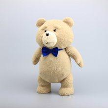 "18 ""45CM דובון טד בפלאש צעצועים עם כחול עניבת פיראטים טדי רך ממולא בובות צעצוע לילדים מתנות"