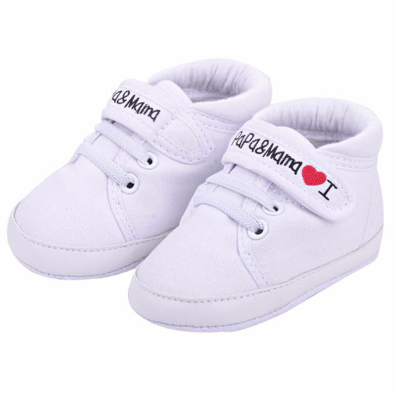 New Baby Shoes Love Mama Infant Toddler Soft Soled Sneakers Baby Girl Shoes Newborn Kids Love Papa Casual First Walkers