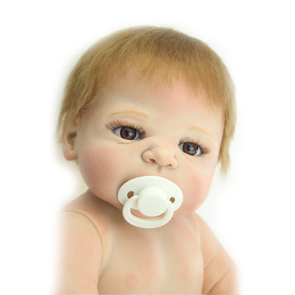 Full body silicone baby for sale 2015 - Super Lovely Bald Nude Doll 23inch 58cm Reborn Dolls For Sale Hobbies Lifelike Full Body Silicone