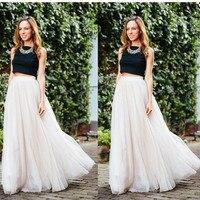 White Long Tulle Skirt 4 Layers 100cm Pettiskirt Bouffant Womens Adult skirt