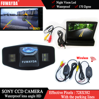 FUWAYDA Wireless Color Car Chip Rear View Camera for Honda Accord Pilot Civic Odyssey Acura TSX+4.3Inch foldable LCD TFT Monitor