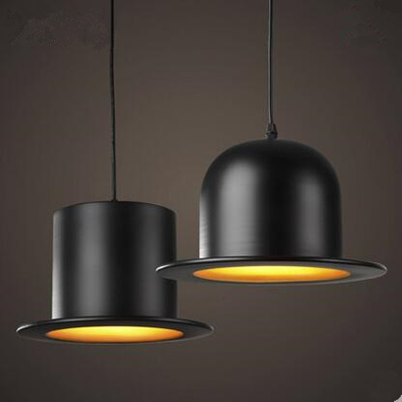 Modern Style indoor lighting pendant lights copy aluminum Top Hat Dome cap LED restaurant shop bar light fixture