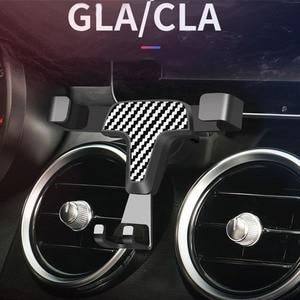 Image 1 - Универсальный металлический держатель для мобильного телефона, вентиляционное отверстие, 360 градусов, автоматическая подставка для Mercedes Benz GLA CLA GLC, c класс