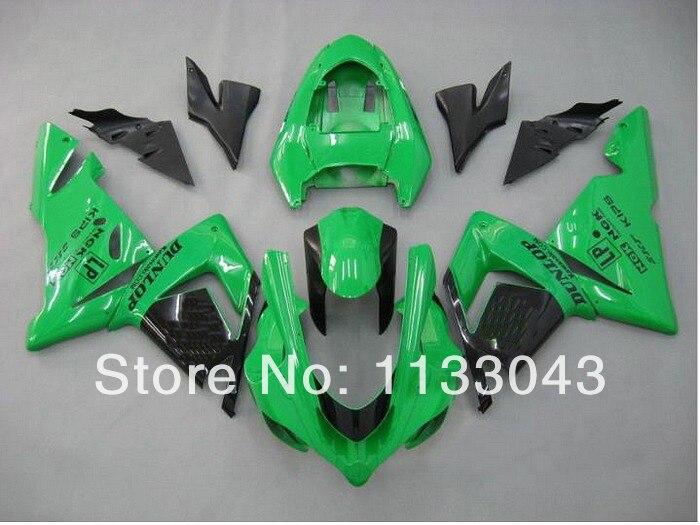 ᑐ100% nuevo verde negro carenados para Kawasaki Ninja ZX10R 04-05 ...