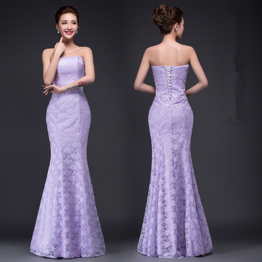 Image 4 - DM2670B#Spring summer new 2019 fish lace up tail sexy long Dresses bride toast wedding dress Gril Wholesale women clothing cheap-in Wedding Dresses from Weddings & Events