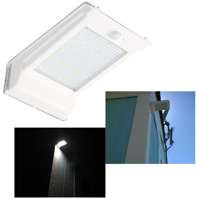 Wireless Waterproof 20 Led Pure White Solar Lights Outdoor Motion Sensor Exterior Security Wall Light Night Lamp