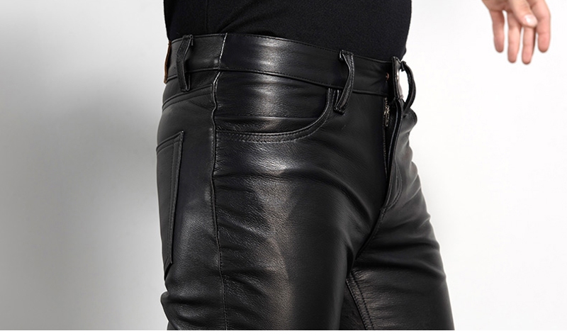 Men's Leather Pant Biker Pants Motorcycle Punk Rock Pants Tight Gothic Leather Pants  Slick Smooth Shiny Trousers Sexiest TJ01 26