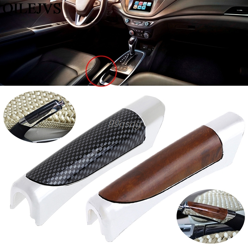 Chic Auto Car Carbon Fiber Style Hand Brake Protective Handle Cover Decor Cover Drop Shipping