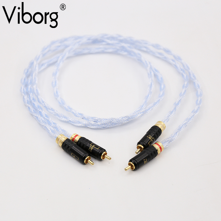 pair Viborg BD-S Silver plated  RCA Auido interconnect cable With WBT-0144 plugs connection free shipping pair nordost odin rca interconnect cable with wbt 0102ag silver plated plugs connector