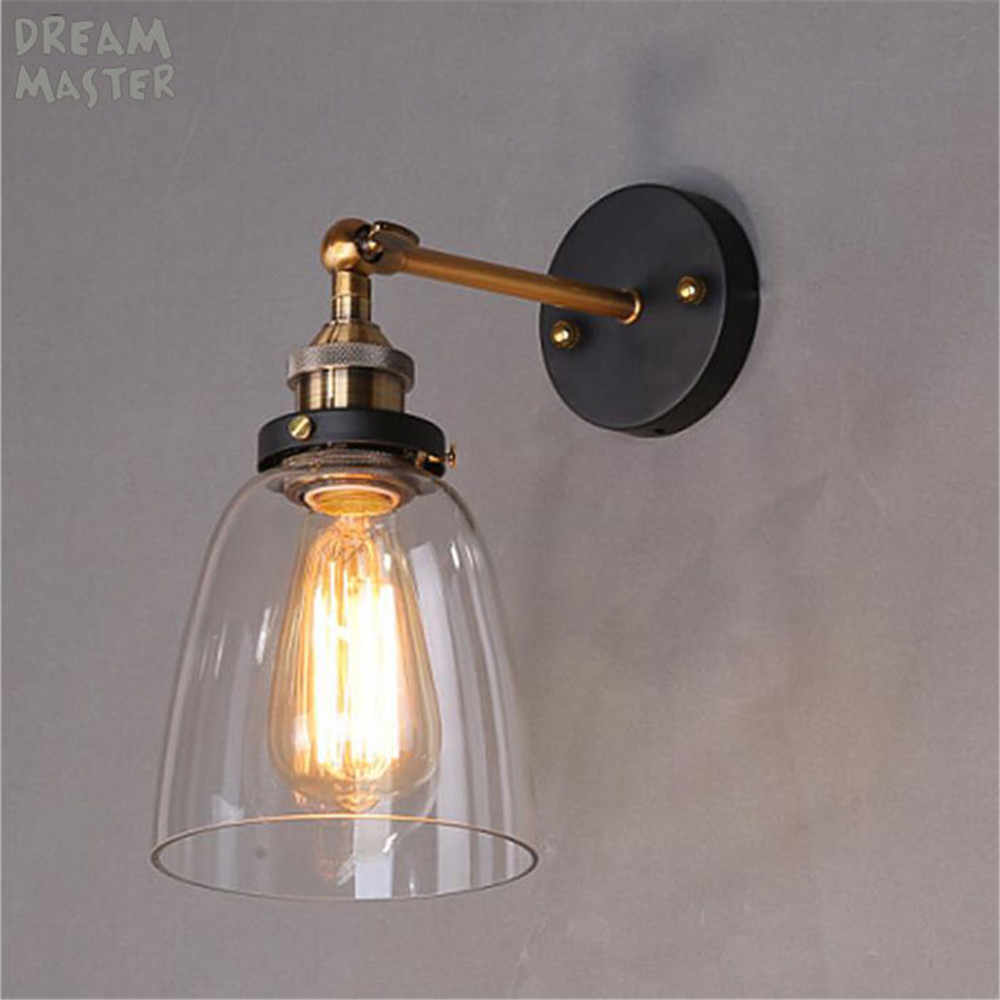 Скандинавские минималистичные Прозрачные Стеклянные Настенные лампы для