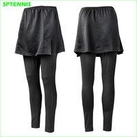 Women Tennis Dress Pants Spring Autumn One Piece Running Fitness Leggings Girl Badminton Training Tights Skirt