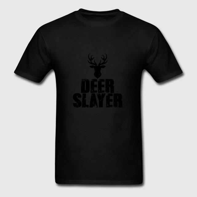 e489dcac Funny Men Tshirt Trendy Wild Deer Hunter Deer Target Sporter T Shirt  Natural Unisex Camisetas Hombre Gents Fit
