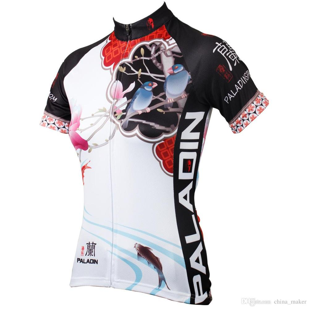 176 Hot cycling jerseys Magnolia Flowers hot Cycling Jersey 2017s Anti Pilling Female adequate quality Sleeve Cycling Clothing F 176 top quality hot cycling jerseys red lotus summer cycling jersey 2017s anti uv female adequate quality sleeve cycling clothin