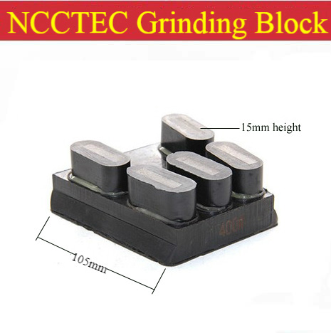 4'' Diamond Resin Bond Horseshoe Grinding Blocks | 105mm Grinding Pads Tools For Surface Flat Coarse Grinding 5 Segments