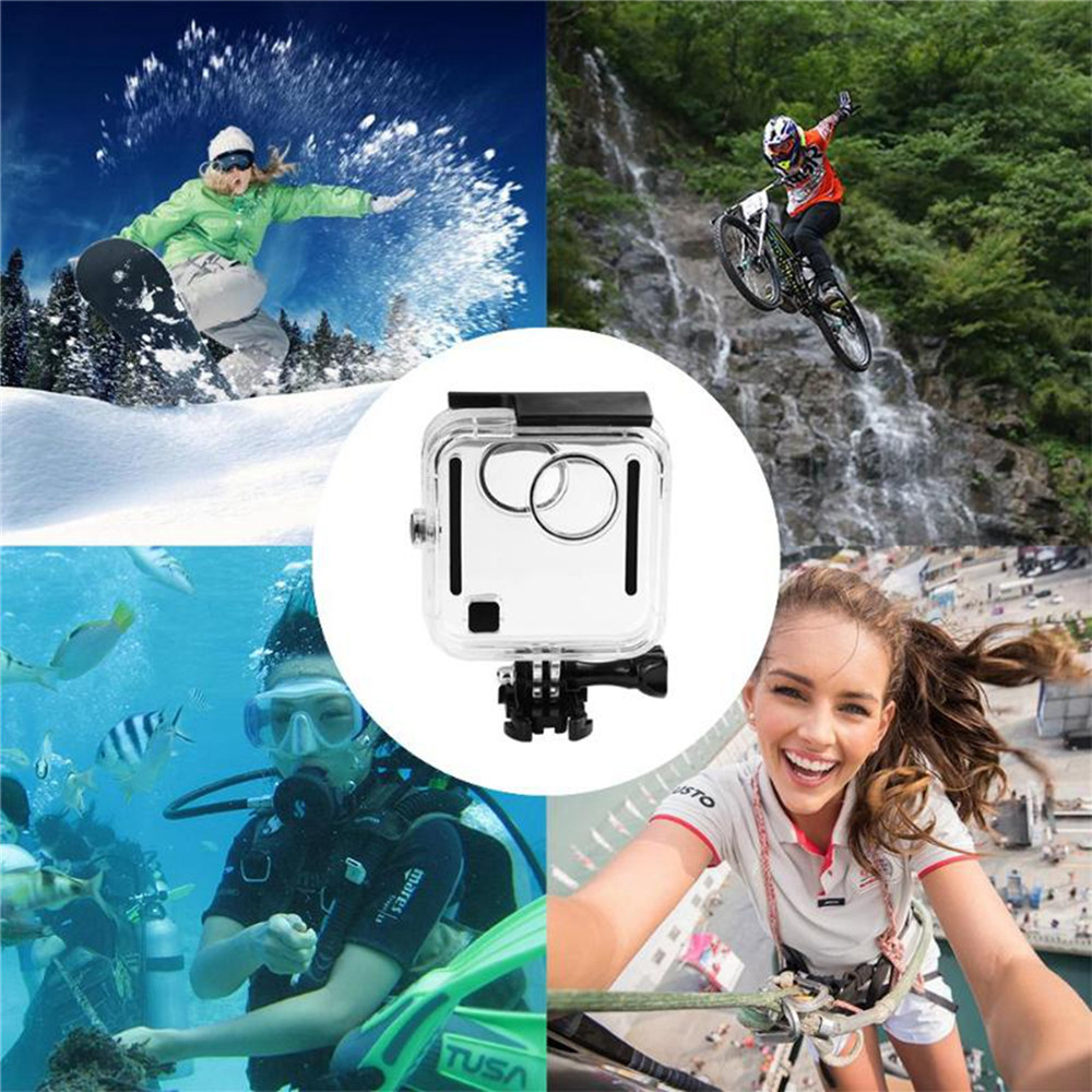 For GoPro Fusion 360 degree Camera Waterproof Housing Case 45M Underwater Diving Box Back Door Protective