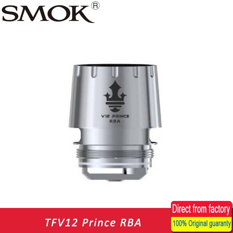In stock!!! 100% Original SMOK TFV12 Prince RBA with Resistance 0.25ohm For TFV12 Prince Tank Atomizer RBA coil head