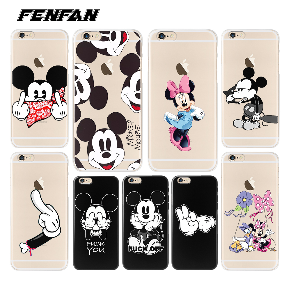 For coque iPhone 6S case Mickey soft silicone 2018 new arrivals original for iPhone XR case