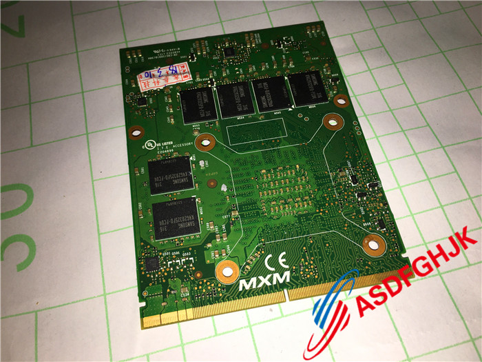 Original FOR MSI MS-1W0B1 VER:1.0 GT70 MS-1763 GT60 MS-16F4 N14E-GS-A1 <font><b>GTX</b></font> <font><b>770M</b></font> VIDEO CARD Fully tested image