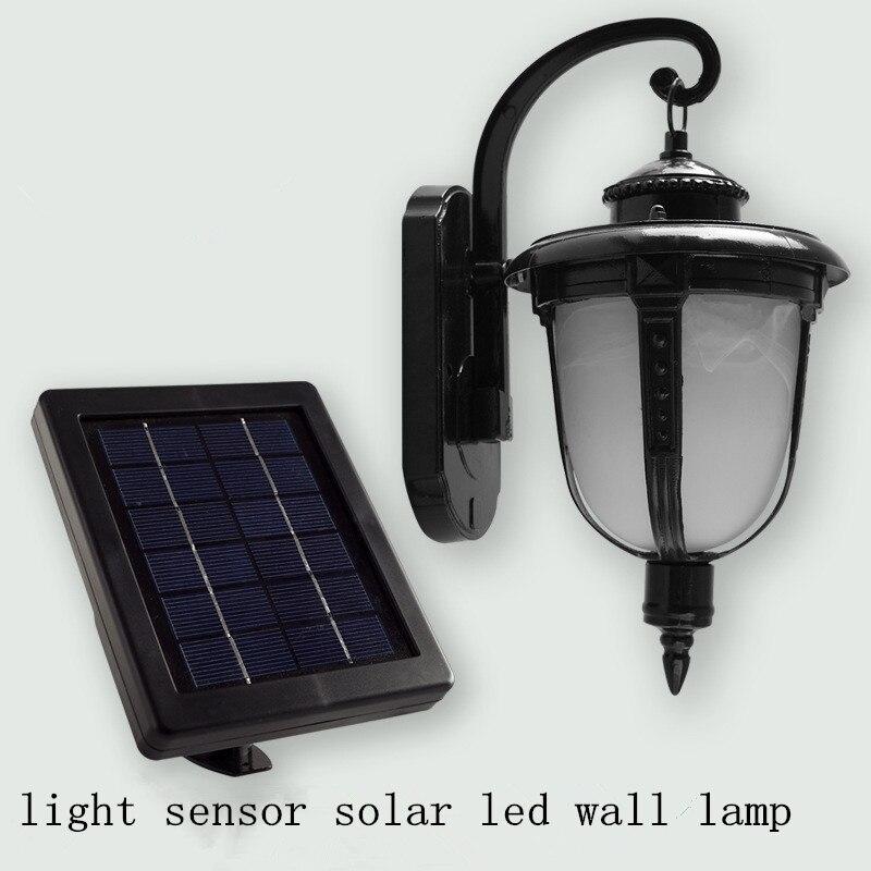 Solar Wall Light Antique Continental Led Wall Lamp Light Sensor Lamp Retro  Creative Outdoor Terrace Lighting