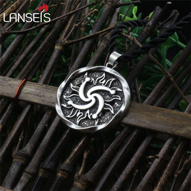1pcs Rod Symbol Pendant Pagan Jewelry Slavic Amulet Swastika