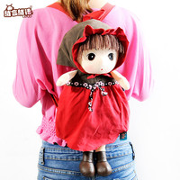 Hot Sell Free Shipping Plush Girl Backpacks Soft Plush Toys Birthday Gifts Students Backpacks