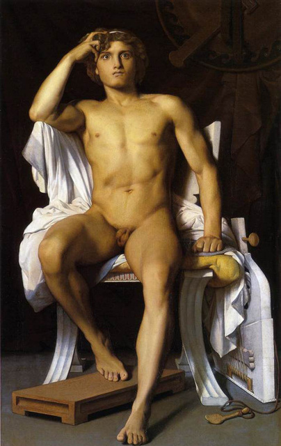 The Wrath Of Achilles Lgbt Interest Nude Male Oil Painting -9290