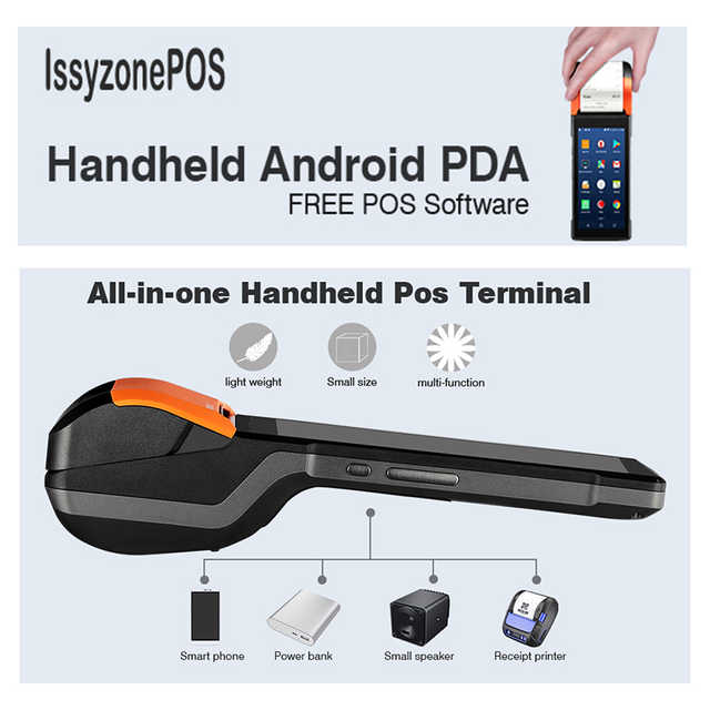Sunmi V2 PDA Android 7 PDA Handheld POS Thermal eSIM 4G WiFi with