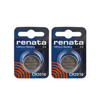 2PCS Renata CR2016 Button Cell Battery Watches 3V 90mAh Remote Control Toy Batteries