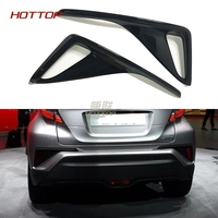 For Toyota C HR CHR 2017 2018 Car Chrome Styling ABS Black Rear Fog Light Covers Stickers Exterior Decoration Auto Accessories