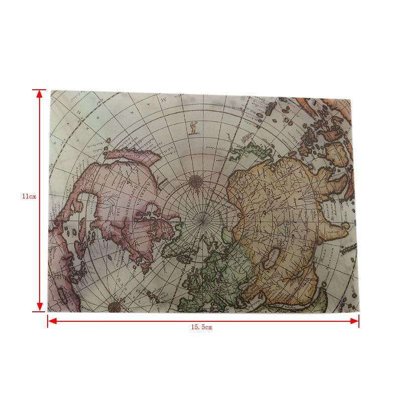 Купить с кэшбэком 100pcs/lot retro European map style sulfuric acid window envelope letter invitation greeting cards cover 110*155mm wholesale