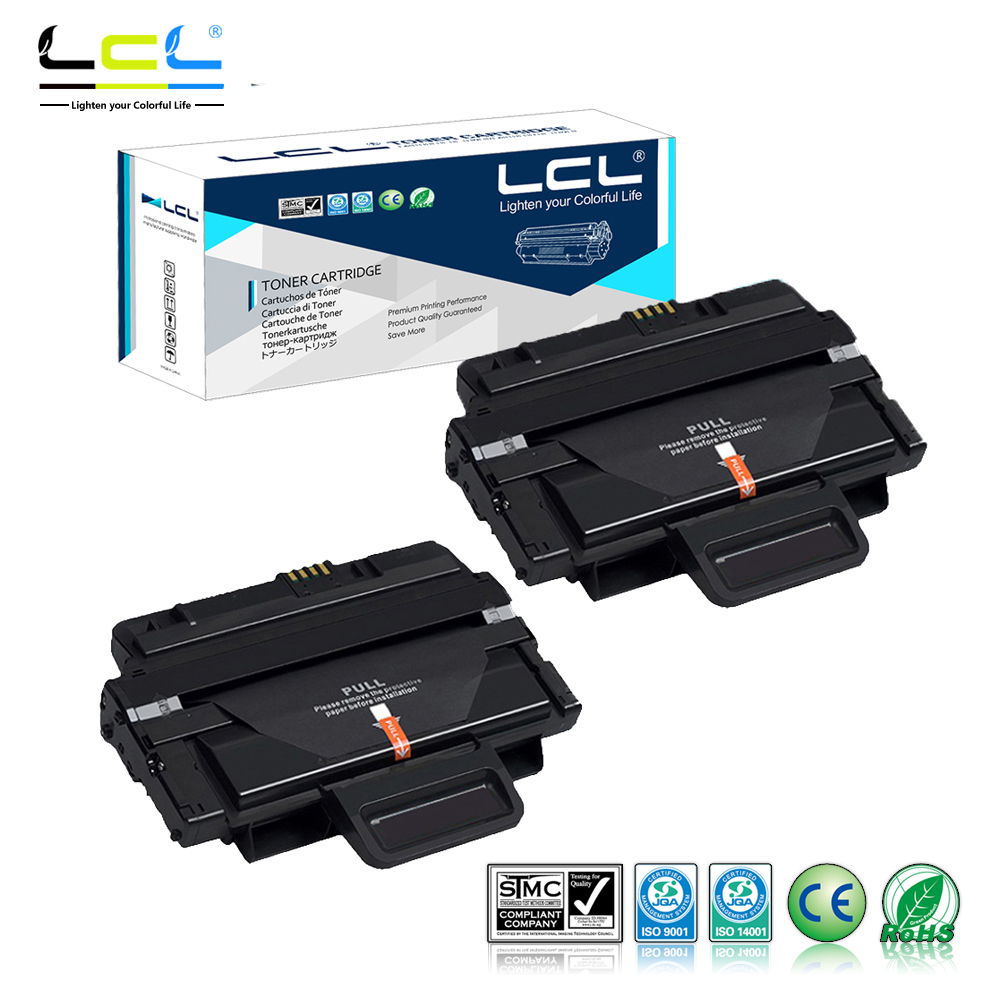 LCL MLT-D209L MLT-D209S MLT-D2092L MLT-D2092S (2-Pack Black) Toner Cartridge Compatible for Samsung SCX-4824/4825/4826/4828/