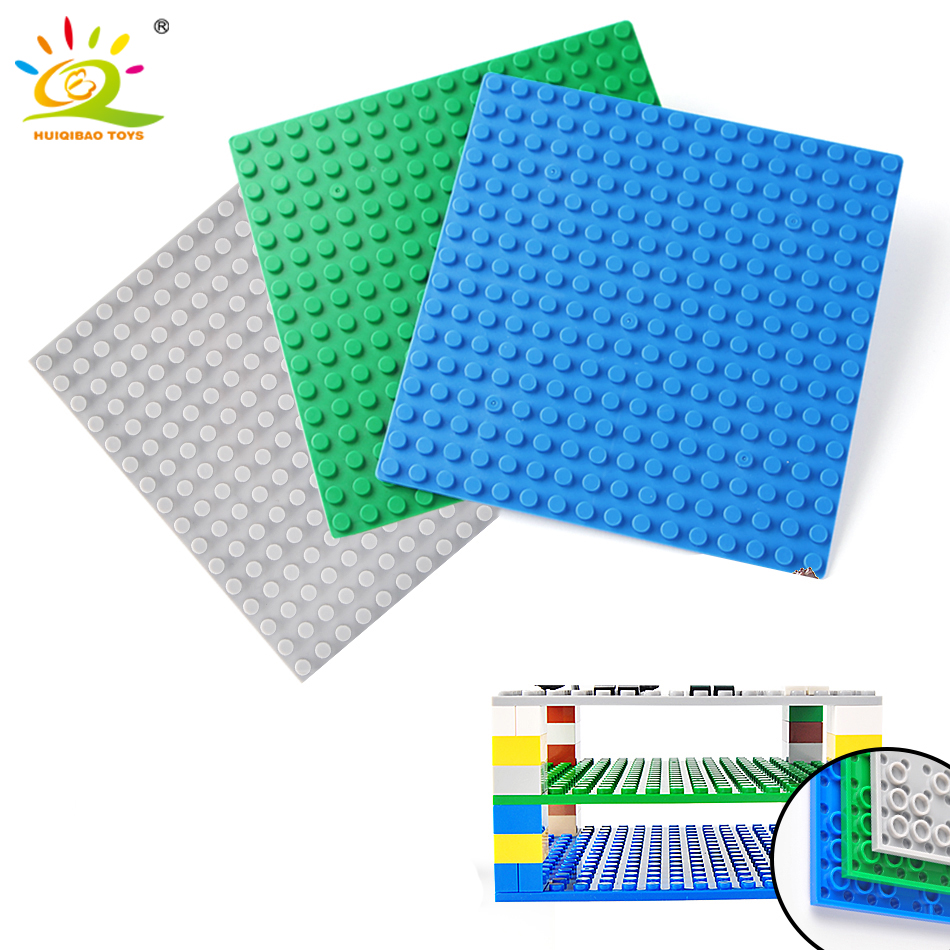5 Color 12.75*12.75Cm Double-sided Base DIY Small Plate Blocks Legoing City Baseplate Classic 16*16 Dots Toys Kids