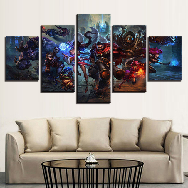 5 Piece Painting Print Game Poster Living Room Modular Canvas Picture Wall Art Home Decor