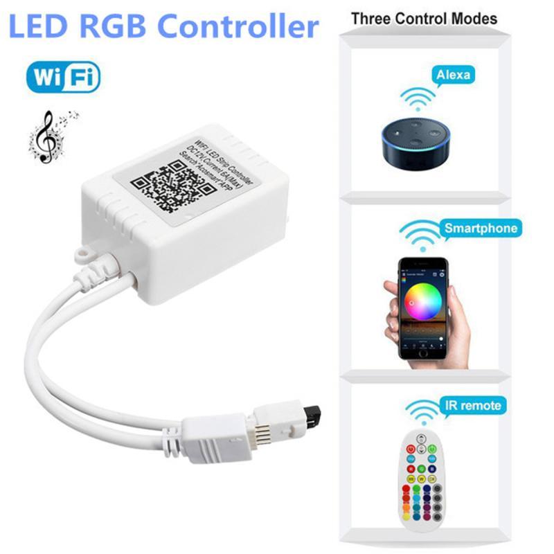 5 Pins 28 Keys Mini WiFi Controller Music Control Remote For RGBW 5050 LED Strip Light 110-240V Smart Phone Control Decorative