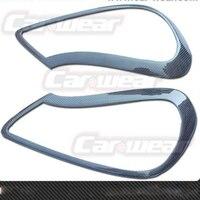 Carbon Fiber Headlight Cover Eyebrows Eyelids For Porsche Cayenne 2008 2009