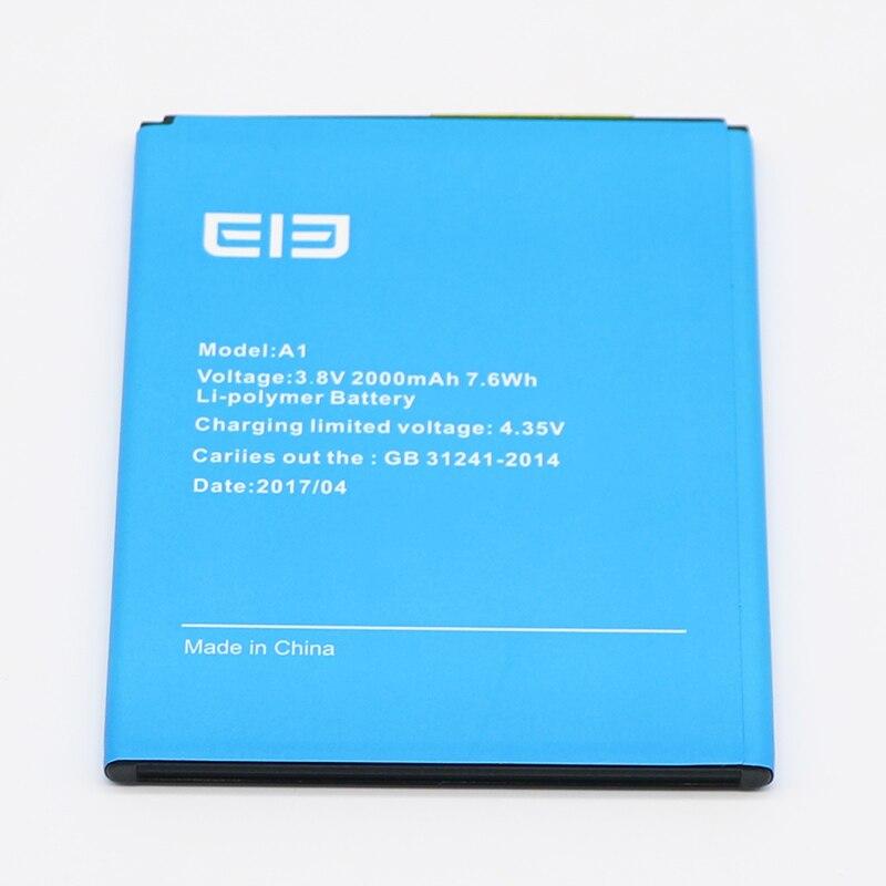 Para Elephone A1 acessórios acumuladores Bateria 2000 mAh 100% Nova Substituição Para Elephone A1 UM 1 Telefone Móvel