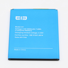 For Elephone A1 Battery 2000mAh 100% New Replacement accessories accumulators A 1 Mobile Phone