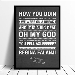 Image 2 - الأصدقاء التلفزيون تظهر Quotes خلفية قماش الملصقات يطبع جدار الفن اللوحة الزخرفية صورة الحديثة نوم ديكور المنزل الإطار