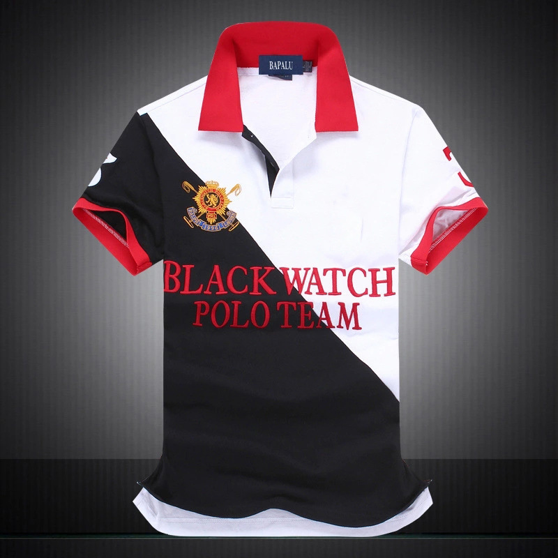 Brand New Men   Polo   Shirt   Polo   Shirts Cotton Male Short Sleeve Men Clothes 2019 Loose Contrast Color   Polo   Shirt Men Homme