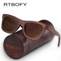 RTBOFY Wood Sunglasses For Men Women Polarized Lenses Glasses Bamboo Frame Eyeglasse Vintage Design Shades UV400