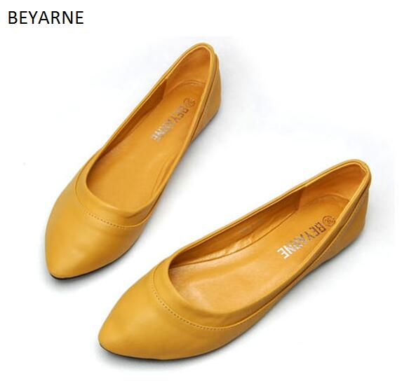 Ballet Dancing Shoes Woman Flats Loafers Soft Outsole Shiny Colorful Gold Silver Soft Leather Leisure 2017 Flat With Single Shoe summer slip ons 45 46 9 women shoes for dancing pointed toe flats ballet ladies loafers soft sole low top gold silver black pink