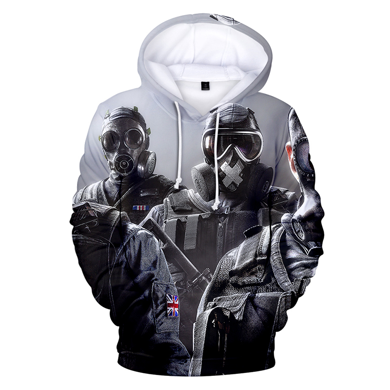 Latest 3d Hoodies Pullover Rainbow Six Printed Fashion Men Women Hoodie Hoody Casual Long Sleeve Homme 3D Hooded Sweatshirts Top
