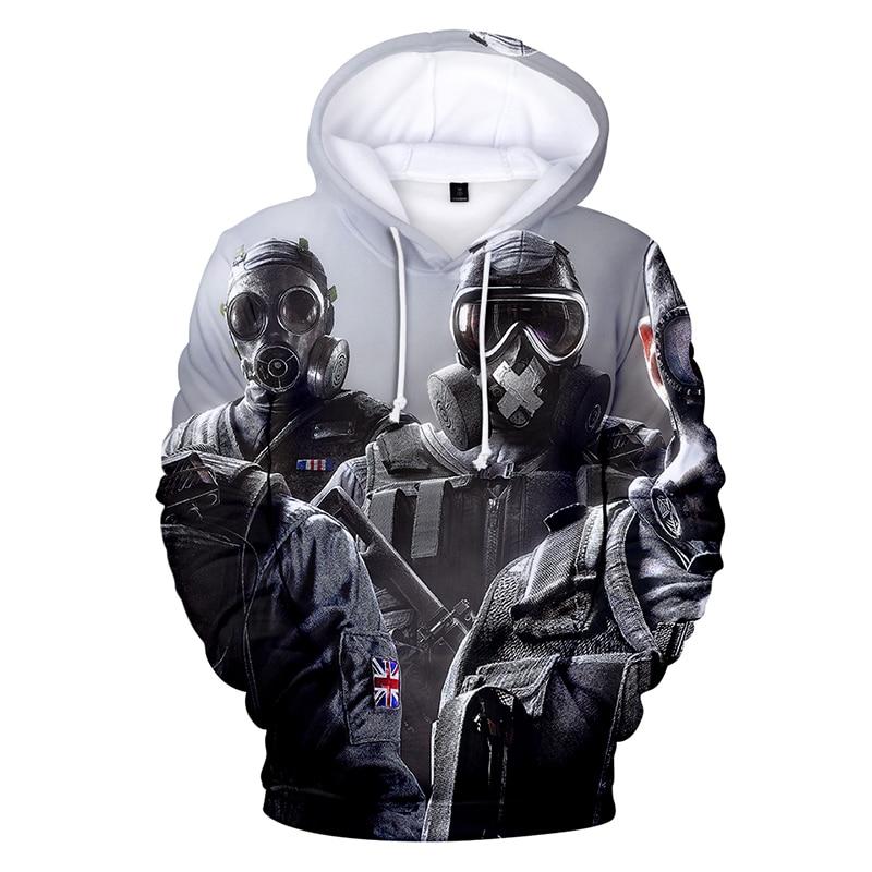 Latest 3d Hoodies Pullover Rainbow Six Printed Fashion Men Women Hoodie Hoody Casual Long Sleeve Homme 3D Hooded Sweatshirts Top