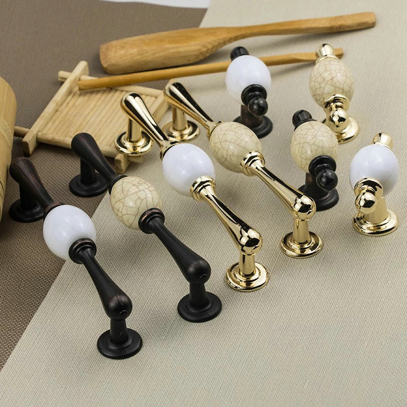 4pcs Luxury Funiture Door Handles and Knobs Metal Drawer Pulls Euro Kitchen Cabinet Handles and Knobs Furniture Handles Hardware black door back plate drawer handles furniture hardware dresser knobs pulls drawer knobs handles kitchen cabinet handles page 9
