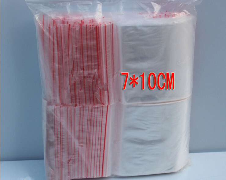 500PCS 7x10cm transparent travel gift packing bag plastic bag for necklace/jewelry/ food small ziplock clear self seal bags pe