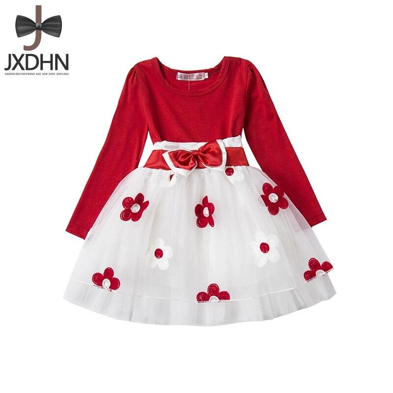 Flower Baby Girl dress wedding winter Long Sleeve infant Dress Princess Casual tutu Dress 1 Years Birthday Newborn girl Clothes